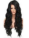 Натуральные волосы Необработанные натуральные волосы Бесклеевая сплошная кружевная основа Полностью ленточные Парик стиль Бразильские волосы Свободные волны Парик 130% Плотность волос