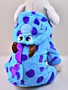 Kedi Köpek Kostümler Kapüşonlu Giyecekler Tulumlar Köpek Giyimi Karton Mavi Polar Kumaş Kostüm Evcil hayvanlar için Erkek Kadın\'s Sevimli