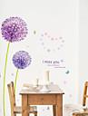 Botanic / Romantic / Florale / Peisaj Perete Postituri Autocolante perete plane,pvc 50*70CM