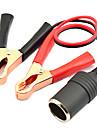 jtron 12 ~ 24v brichetă auto încărcător + 10a baterie clemă terminale crocodil clip - (roșu& negru)
