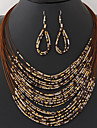 Pentru femei Ștrasuri / În Straturi Set bijuterii - Reșină Boem, European, Modă Include Colier / cercei Albastru / Roz / Curcubeu Pentru Petrecere / Zi de Naștere / Logodnă