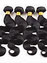 Brasilianskt hår Jungfru Kroppsvågor Hårförlängning av äkta hår 4 delar Heta Försäljning 4 delar 0.2