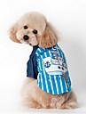 Hund T-shirt Hundkläder Rand Blå Rosa Kostym För husdjur
