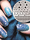 2016 dernieres ongles motif etoile version fashion art plaques de modele d\'image estampage