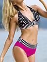 Dame Acrilic Spandex Push-up Cu Susținere,Bikini Sport Buline Geometrică Bulină polka