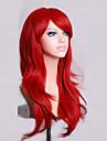 Syntetiskt hår peruker Naturligt vågigt Utan lock Karneval peruk Halloween Paryk Kostym Peruk Röd