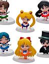 Anime Actionfigurer Inspirerad av Sailor Moon Sailor Moon pvc 5 CM Modell Leksaker Dockleksak