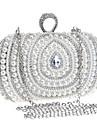 Femei Genți Primăvară Vară Toamnă Iarnă Toate Sezoanele Poliester Ambreiaj Geantă Seară Geantă Cosmetice Imitație de Perle Cristale/