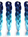 Ms afrikansk fiberfärg stort barn jumbo flätat hår högtemperaturgradient blå silkesort 1 st