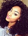 Äkta hår Hel-spets Spetsfront Peruk Kinky Curly 130% Densitet 100 % handbundet Afro-amerikansk peruk Naturlig hårlinje Korta Mellan Lång