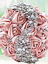 """Flori de Nuntă Buchete Nuntă Party / Seara Margele Dantelă Ștras Poliester Satin Spumă 9.84""""(Approx.25cm)"""