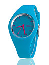 Women\'s Wrist Watch Quartz Silicone Black / White / Blue Casual Watch Analog Ladies Charm Casual Fashion - Blue Pink Light Green One Year Battery Life / Tianqiu 377