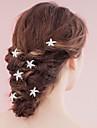 Perle Veșminte de cap Pini de păr Hair Stick with Floral 1 buc Nuntă Ocazie specială Diadema
