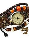 Damers Modeklocka Armbandsklocka Digital Läder Band Bohemisk Brun Brun