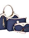 Femei Genți Toate Sezoanele PU Seturi de sac Set de pungi din 4 buc pentru Cumpărături Casual Oficial Bej Maro Albastru Roz