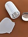 nagel konst Stamping plåt Stamper Scraper 2.8cm for the silicone head