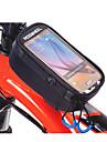 ROSWHEEL Väska till cykelramen Mobilväska 5.2 tum Fuktighetsskyddad Vattentät dragkedja Bärbar Pekskärm Stötsäker Cykelsport för iPhone