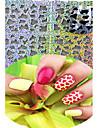1 Autocollant d\'art de clou Bouts  pour ongles entiers Bijoux pour ongles Bande dessinee Fleur Abstrait Adorable MariageMaquillage