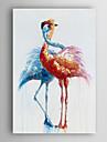 HANDMÅLAD Djur Vertikal, Moderna Duk Hang målad oljemålning Hem-dekoration En panel