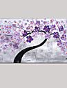 paleta cuțit de arta pictură în ulei pictate manual perete violet imagine decor verde proaspete floare de cireș roz întins cadru