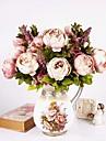 1 bukett konstgjord pion peonies blommor 8 huvuden silke blomma bröllop hem party inredning europeisk stil stor