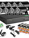8Ch 8pcs dvr rețea 960H 1000tvl CCTV în aer liber sistem de camere de securitate IR