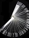 50st Falska nagel konst Tips Display Fan Transparent