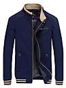 bărbați casual / zilnic jacheta toamna toamna, solid stand guler strat obișnuit