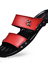Bărbați Pantofi Latex Vară Papuci & Flip-flops Plimbare Negru / Maro / Rosu