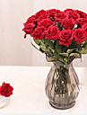 1 Une succursale Polyurethane Autres Roses Fleur de Table Fleurs artificielles 44 x 7.5(17.3\'\' x 2.95\'\')