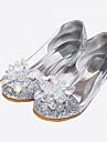Fete Pantofi Luciu Primăvară Vară Toamnă Confortabili Sandale Cristal Paiete Pentru Nuntă Casual Rochie Argintiu Auriu