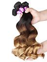 Nyans Brasilianskt hår Löst vågigt 12 månader 4 delar hår väver