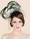 Femei Pană Tul Diadema-Nuntă Ocazie specială Informal Pălărioare Pălării/Căciuli 1 Bucată