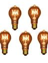 HRY 5pcs 40W E26/E27 A60(A19) 2300 K Glödande Vintage Edison glödlampa AC 220-240V V