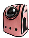 Cat Dog Carrier & Travel Backpack Astronaut Capsule Carrier Pet Carrier Portable Breathable Solid Black Coffee Rose Pink Pink