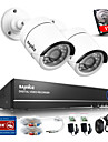 sannce® 4ch 720p aparat de fotografiat AHD vedio dvr supraveghere CCTV acasă sistem de camere de securitate built-in hdd 1TB