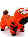 Katt Hund Dräkter/Kostymer Jumpsuits Hundkläder Gulligt Semester Cosplay Tecknat Orange Kostym För husdjur