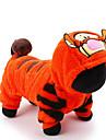 Kat Hond kostuums Jumpsuits Hondenkleding Cartoon Oranje Pluche stof Kostuum Voor Husky Labrador Alaska malamute Lente & Herfst Winter Heren Dames Cosplay Vakantie