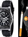 Bărbați Ceas Elegant Ceas Smart Ceas La Modă Ceas de Mână Quartz brichetă Piele Bandă Vintage Cool Casual Negru Maro