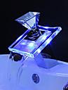 LED Lumină Robinet Baterie Impermeabil ABS / Cristal