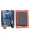 förbättrad version uno r3 ATMEGA328P pension + 2,4 tums TFT LCD-kontakt sköld displaymodul för Arduino