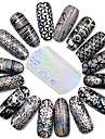 1pcs Negle smykker / Hel Negle Tipper Nail Stamping Template Nail Art Design Daglig glitter / Blomst / Klassisk Smuk