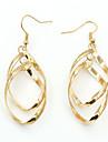 La modă European Argilă Placat Auriu Aliaj Geometric Shape Auriu Argintiu Bijuterii Pentru Nuntă Petrecere Zilnic Casual 1 pereche