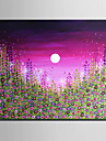 HANDMÅLAD Landskap Horisontell, Europeisk Stil Moderna Duk Hang målad oljemålning Hem-dekoration En panel
