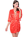 Pentru femei Costume Pijamale,Subțire Spandex Mată Negru Roșu-aprins