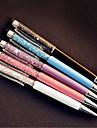 Penna Penna Kulspetspennor Penna,Plast Rostfritt stål Tunna Svart bläck~~POS=TRUNC For Skolmaterial Kontorsmaterial Förpackning med