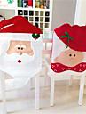 Husă de Scaun Florale/Botanice Vacanță Inspirațional textil Crăciun Desen animat Crăciun Novelty Halloween Petrecere Glob de Craciun