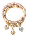 Pentru femei Brățări cu Talismane - Inimă Modă Brățări Bijuterii Auriu / Argintiu Pentru