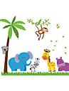 Paysage Animaux Botanique Stickers muraux Autocollants avion Autocollants muraux decoratifs, PVC Decoration d\'interieur Calque Mural Mur