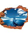 Peisaj Perete Postituri 3D Acțibilduri de Perete Autocolante de Perete Decorative,PVC Material Lavabil / Detașabil / Re-poziționabil